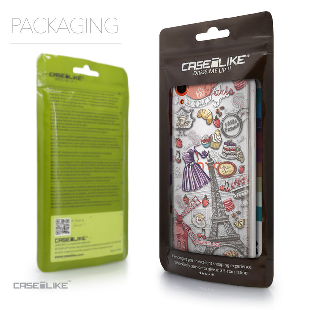 Packaging - CASEiLIKE HTC Desire 820 back cover Paris Holiday 3907