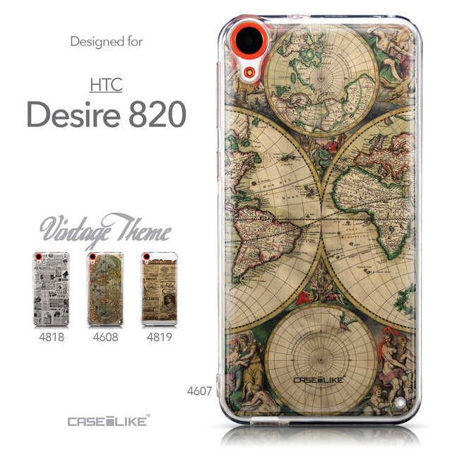 Collection - CASEiLIKE HTC Desire 820 back cover World Map Vintage 4607