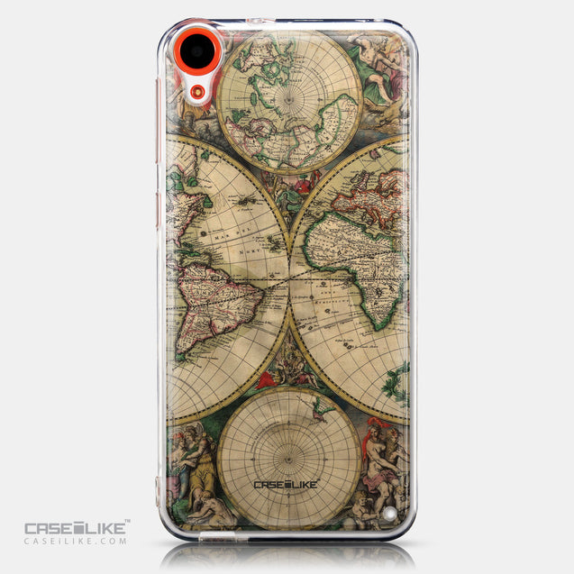 CASEiLIKE HTC Desire 820 back cover World Map Vintage 4607
