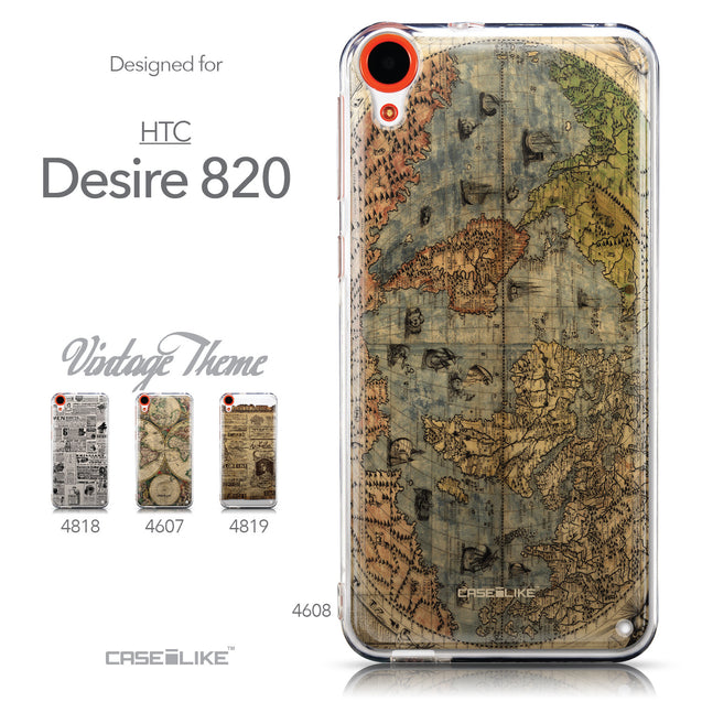 Collection - CASEiLIKE HTC Desire 820 back cover World Map Vintage 4608