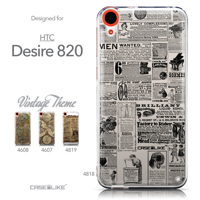 Collection - CASEiLIKE HTC Desire 820 back cover Vintage Newspaper Advertising 4818