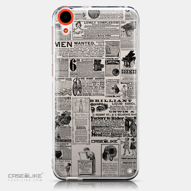 CASEiLIKE HTC Desire 820 back cover Vintage Newspaper Advertising 4818