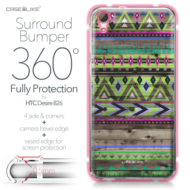 HTC Desire 826 case Indian Tribal Theme Pattern 2049 Bumper Case Protection | CASEiLIKE.com