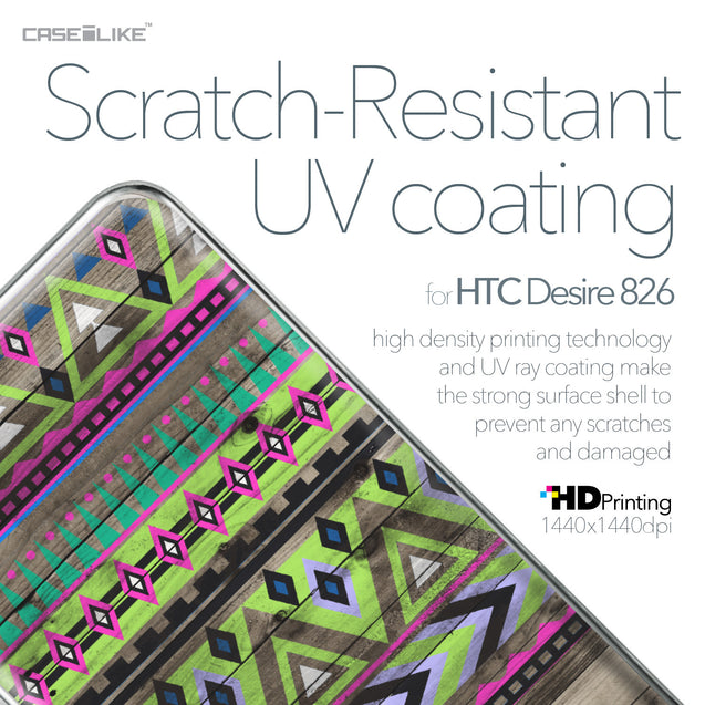 HTC Desire 826 case Indian Tribal Theme Pattern 2049 with UV-Coating Scratch-Resistant Case | CASEiLIKE.com