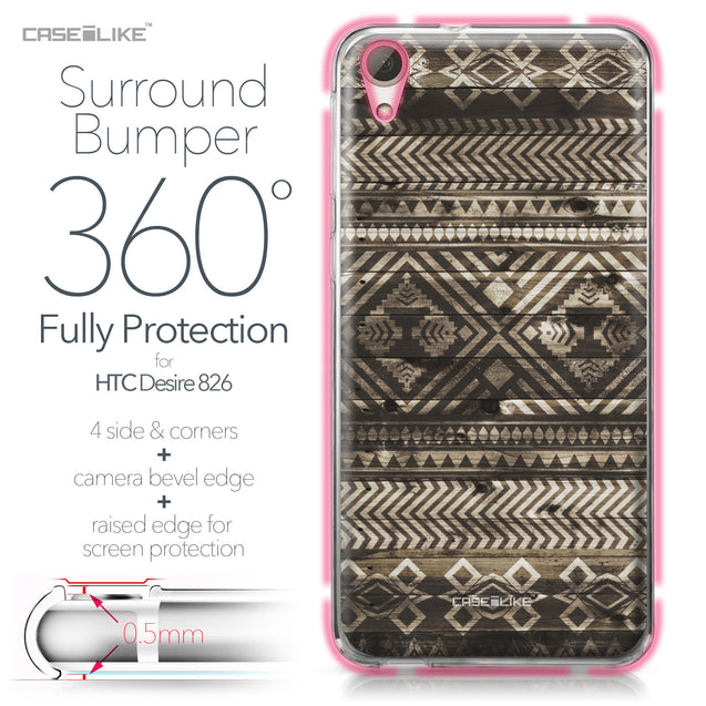 HTC Desire 826 case Indian Tribal Theme Pattern 2050 Bumper Case Protection | CASEiLIKE.com
