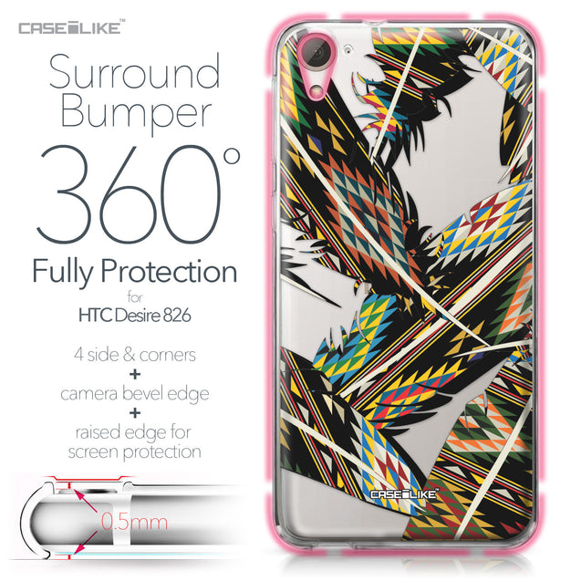 HTC Desire 826 case Indian Tribal Theme Pattern 2053 Bumper Case Protection | CASEiLIKE.com