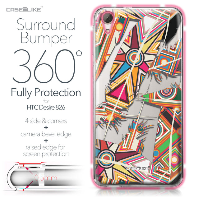 HTC Desire 826 case Indian Tribal Theme Pattern 2054 Bumper Case Protection | CASEiLIKE.com