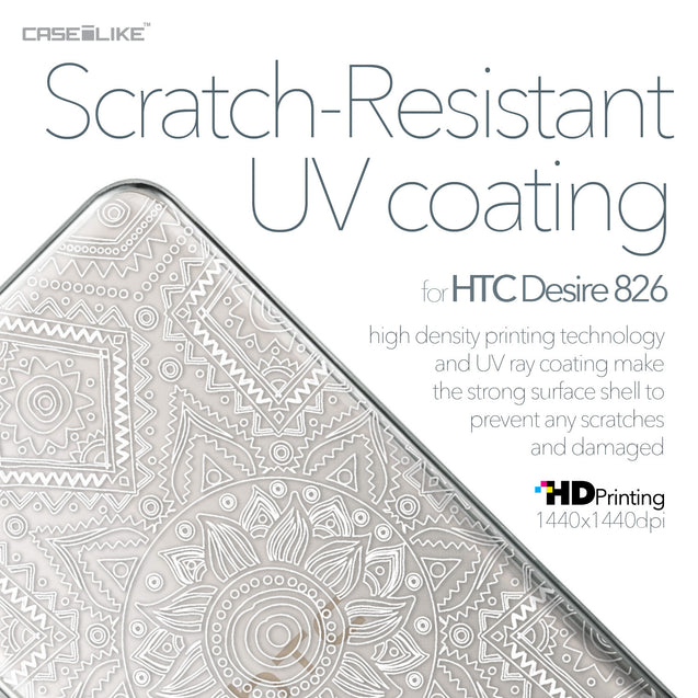 HTC Desire 826 case Indian Line Art 2061 with UV-Coating Scratch-Resistant Case | CASEiLIKE.com