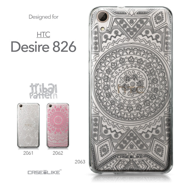 HTC Desire 826 case Indian Line Art 2063 Collection | CASEiLIKE.com