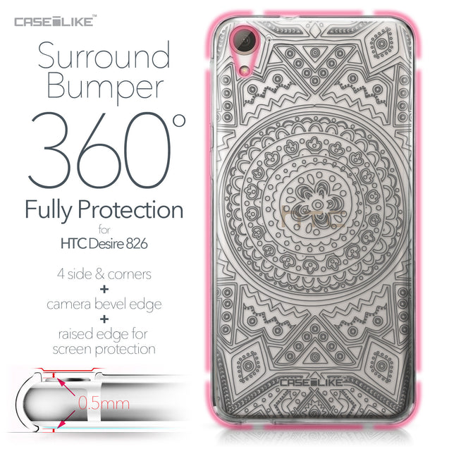 HTC Desire 826 case Indian Line Art 2063 Bumper Case Protection | CASEiLIKE.com