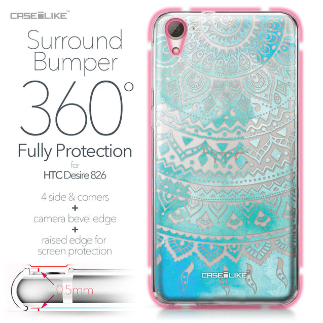 HTC Desire 826 case Indian Line Art 2066 Bumper Case Protection | CASEiLIKE.com