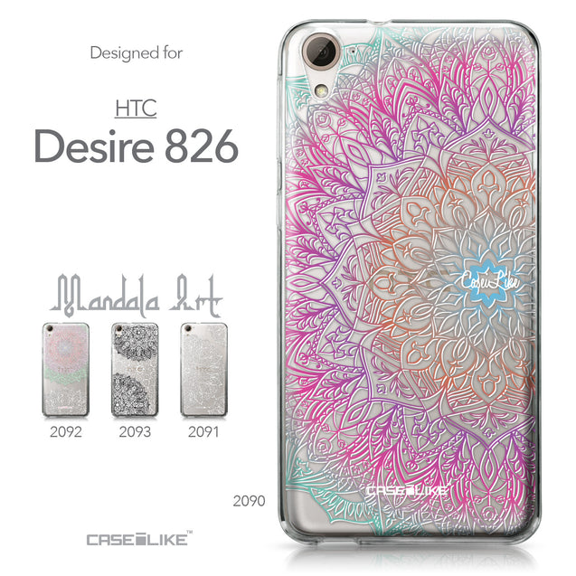 HTC Desire 826 case Mandala Art 2090 Collection | CASEiLIKE.com
