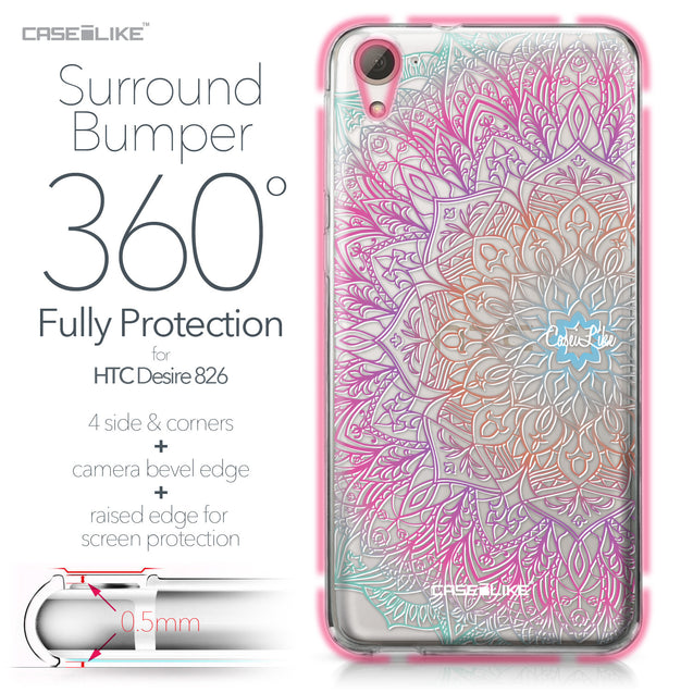 HTC Desire 826 case Mandala Art 2090 Bumper Case Protection | CASEiLIKE.com