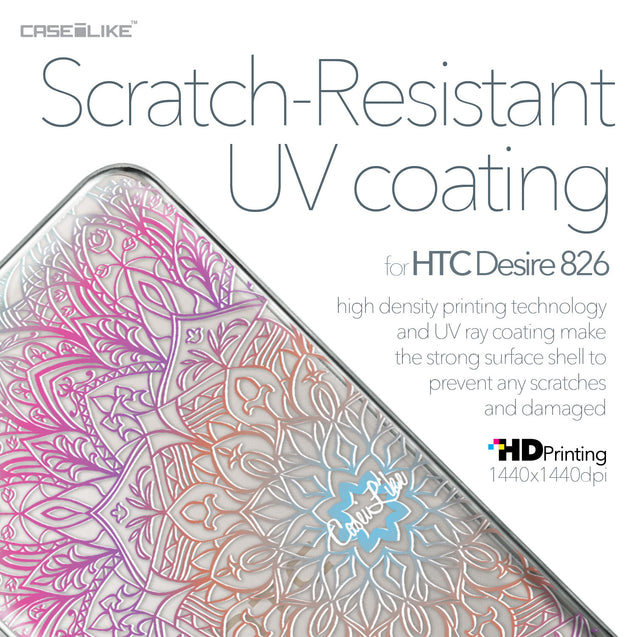 HTC Desire 826 case Mandala Art 2090 with UV-Coating Scratch-Resistant Case | CASEiLIKE.com