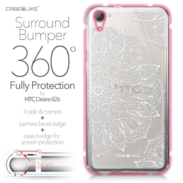HTC Desire 826 case Mandala Art 2091 Bumper Case Protection | CASEiLIKE.com