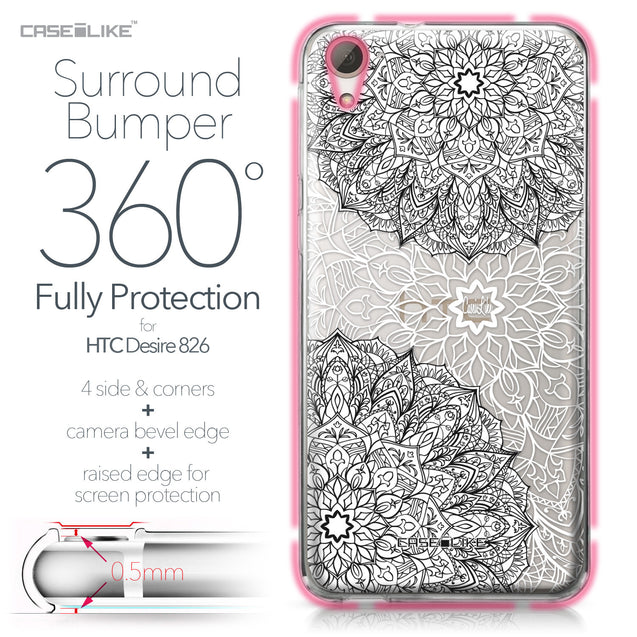 HTC Desire 826 case Mandala Art 2093 Bumper Case Protection | CASEiLIKE.com