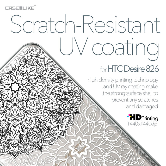 HTC Desire 826 case Mandala Art 2093 with UV-Coating Scratch-Resistant Case | CASEiLIKE.com