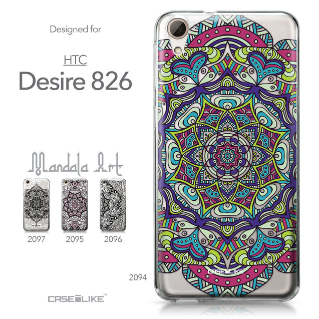 HTC Desire 826 case Mandala Art 2094 Collection | CASEiLIKE.com