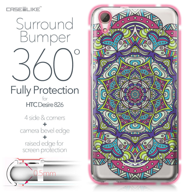 HTC Desire 826 case Mandala Art 2094 Bumper Case Protection | CASEiLIKE.com