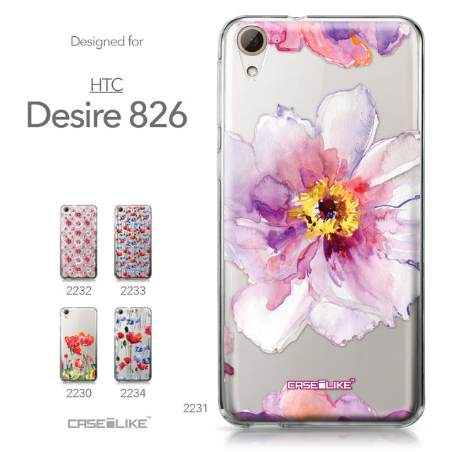 HTC Desire 826 case Watercolor Floral 2231 Collection | CASEiLIKE.com