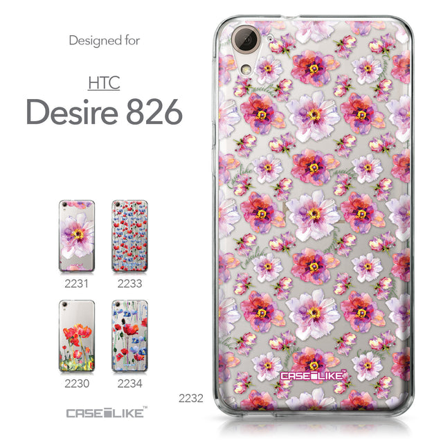 HTC Desire 826 case Watercolor Floral 2232 Collection | CASEiLIKE.com