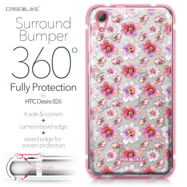 HTC Desire 826 case Watercolor Floral 2232 Bumper Case Protection | CASEiLIKE.com