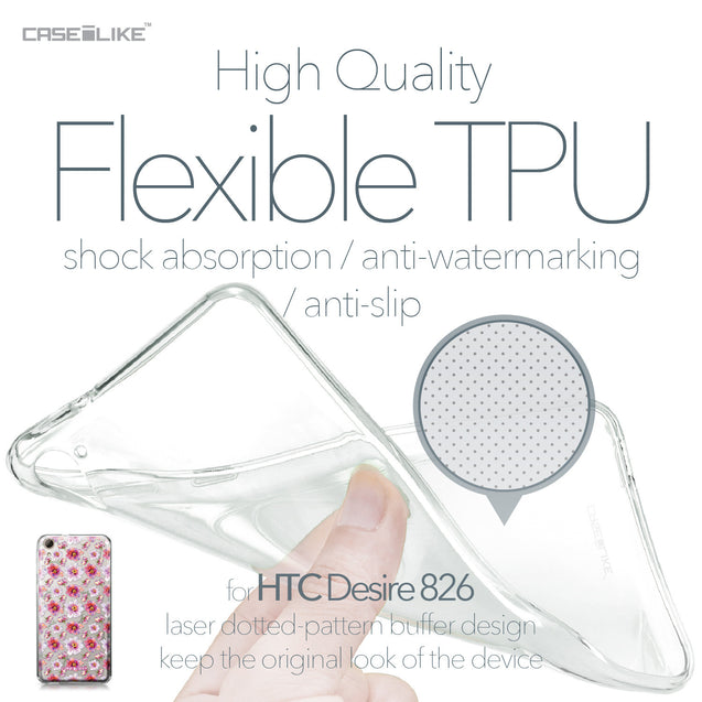 HTC Desire 826 case Watercolor Floral 2232 Soft Gel Silicone Case | CASEiLIKE.com