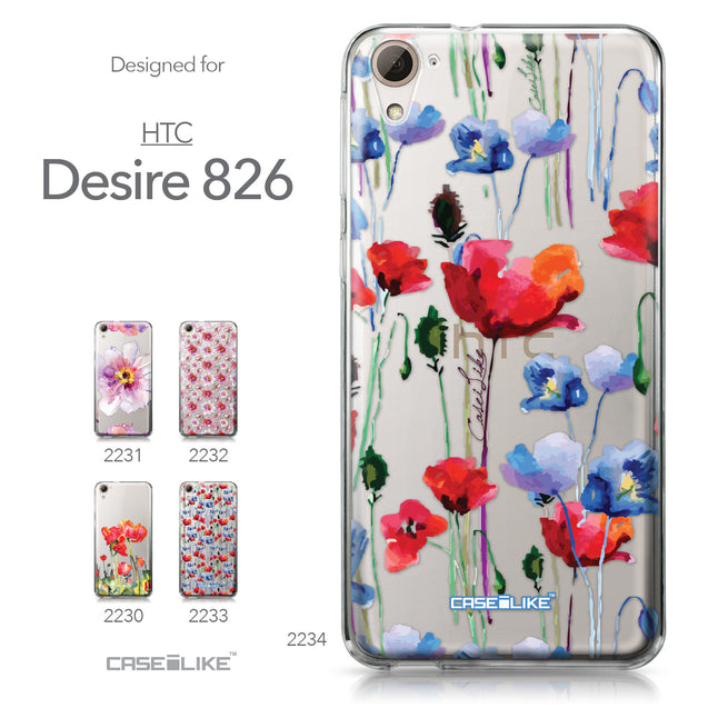 HTC Desire 826 case Watercolor Floral 2234 Collection | CASEiLIKE.com