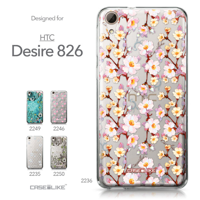 HTC Desire 826 case Watercolor Floral 2236 Collection | CASEiLIKE.com
