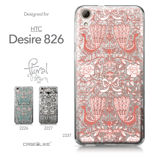 HTC Desire 826 case Roses Ornamental Skulls Peacocks 2237 Collection | CASEiLIKE.com