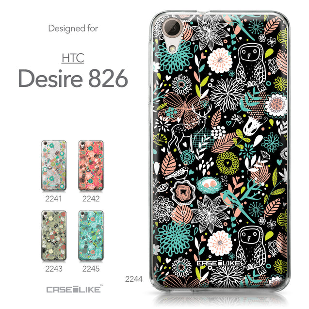 HTC Desire 826 case Spring Forest Black 2244 Collection | CASEiLIKE.com