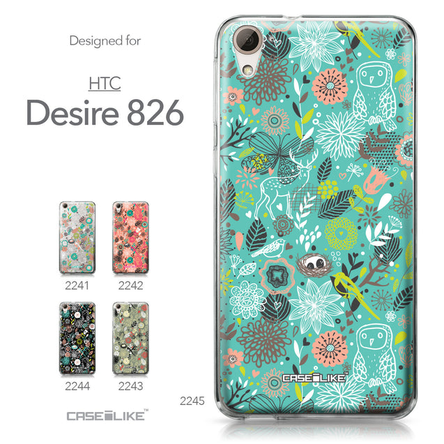 HTC Desire 826 case Spring Forest Turquoise 2245 Collection | CASEiLIKE.com