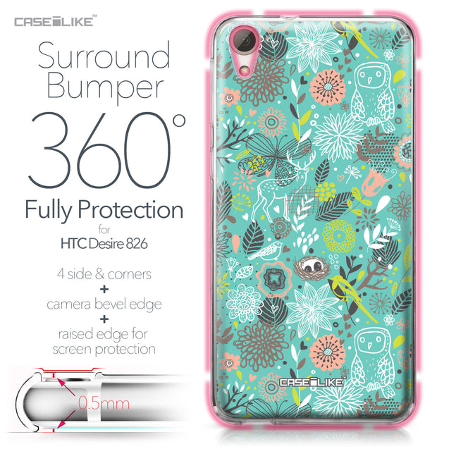 HTC Desire 826 case Spring Forest Turquoise 2245 Bumper Case Protection | CASEiLIKE.com