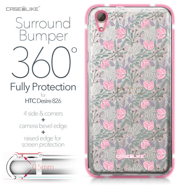 HTC Desire 826 case Flowers Herbs 2246 Bumper Case Protection | CASEiLIKE.com