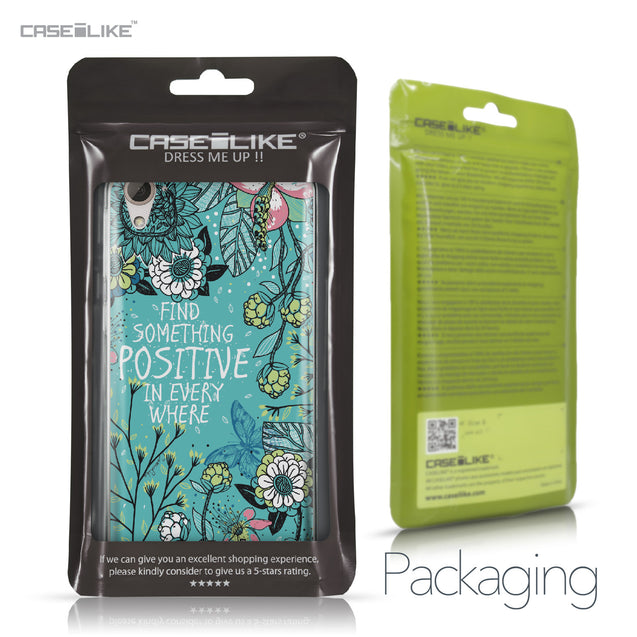 HTC Desire 826 case Blooming Flowers Turquoise 2249 Retail Packaging | CASEiLIKE.com