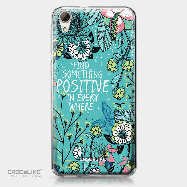 HTC Desire 826 case Blooming Flowers Turquoise 2249 | CASEiLIKE.com