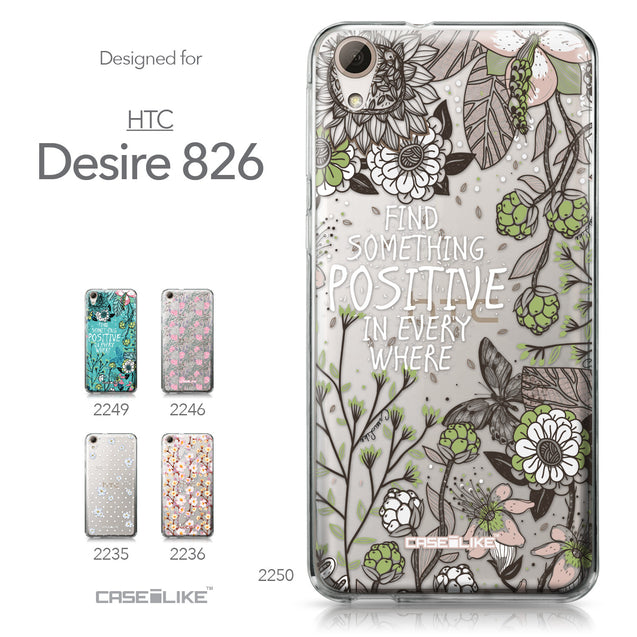 HTC Desire 826 case Blooming Flowers 2250 Collection | CASEiLIKE.com