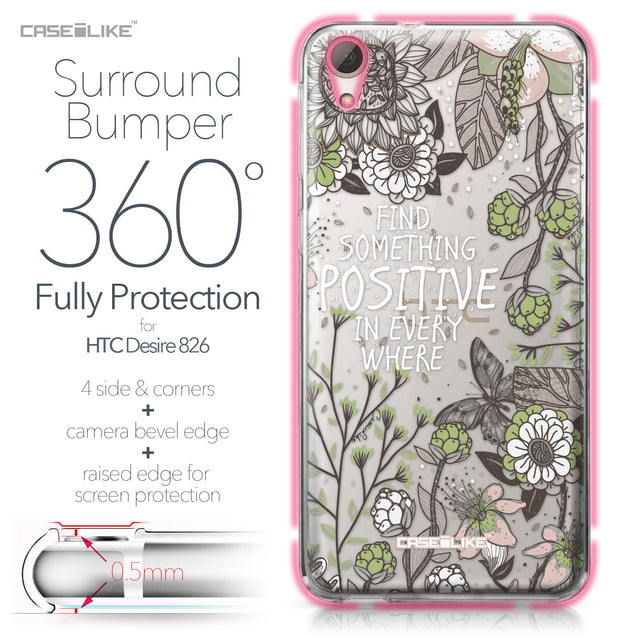 HTC Desire 826 case Blooming Flowers 2250 Bumper Case Protection | CASEiLIKE.com