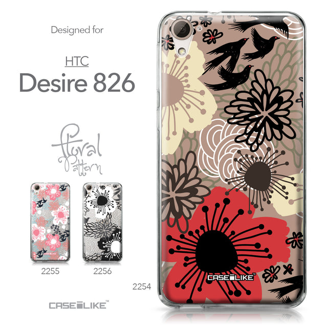 HTC Desire 826 case Japanese Floral 2254 Collection | CASEiLIKE.com