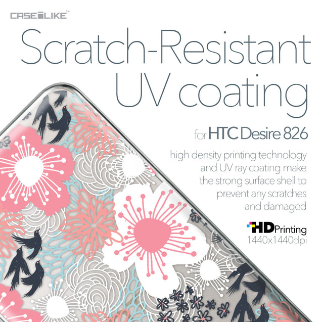 HTC Desire 826 case Japanese Floral 2255 with UV-Coating Scratch-Resistant Case | CASEiLIKE.com