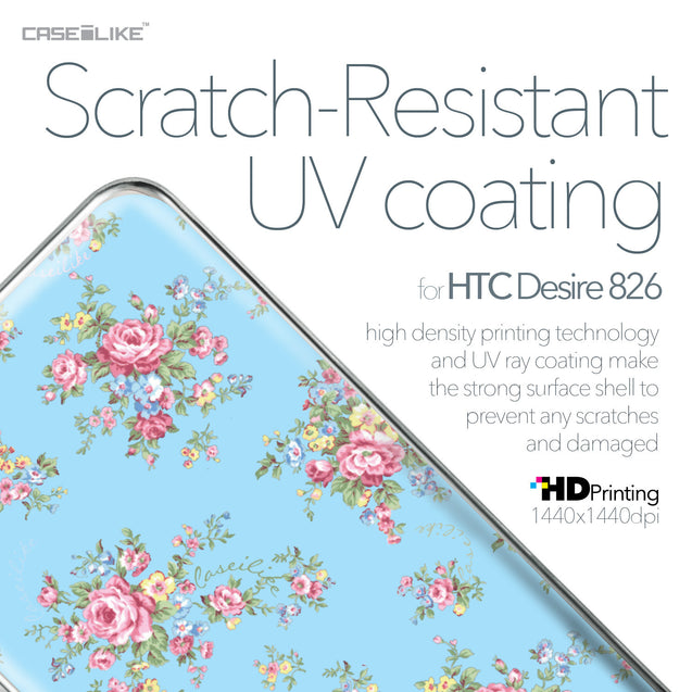 HTC Desire 826 case Floral Rose Classic 2263 with UV-Coating Scratch-Resistant Case | CASEiLIKE.com