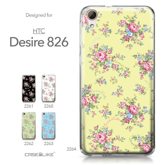 HTC Desire 826 case Floral Rose Classic 2264 Collection | CASEiLIKE.com
