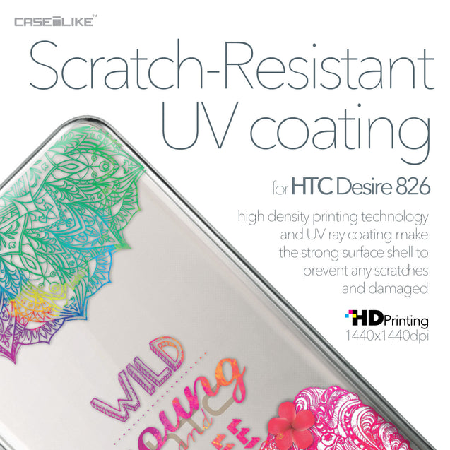 HTC Desire 826 case Mandala Art 2302 with UV-Coating Scratch-Resistant Case | CASEiLIKE.com