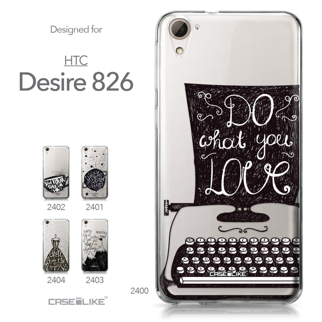 HTC Desire 826 case Quote 2400 Collection | CASEiLIKE.com