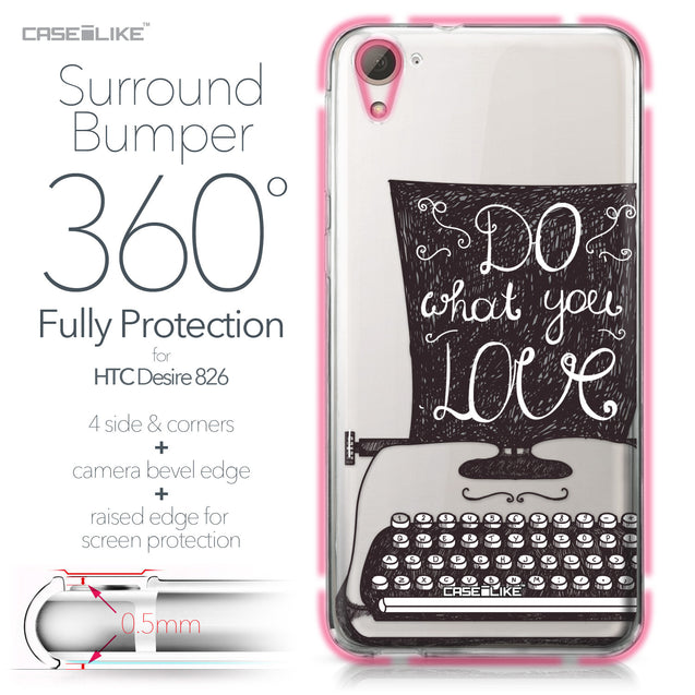 HTC Desire 826 case Quote 2400 Bumper Case Protection | CASEiLIKE.com