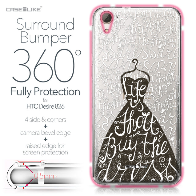 HTC Desire 826 case Quote 2404 Bumper Case Protection | CASEiLIKE.com
