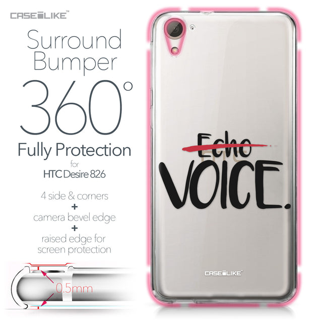 HTC Desire 826 case Quote 2405 Bumper Case Protection | CASEiLIKE.com