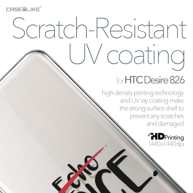 HTC Desire 826 case Quote 2405 with UV-Coating Scratch-Resistant Case | CASEiLIKE.com
