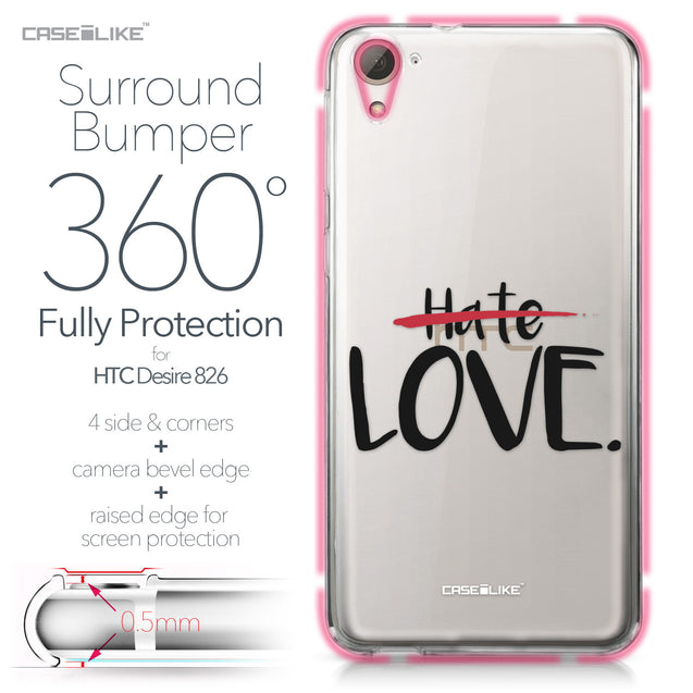HTC Desire 826 case Quote 2406 Bumper Case Protection | CASEiLIKE.com