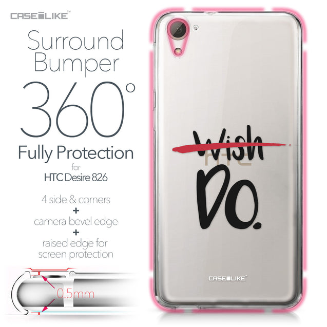 HTC Desire 826 case Quote 2407 Bumper Case Protection | CASEiLIKE.com